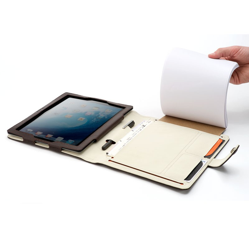 Booq Booqpad iPad 3 Leather Coffee/cream - 8